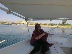 Feluca por el rio Nilo